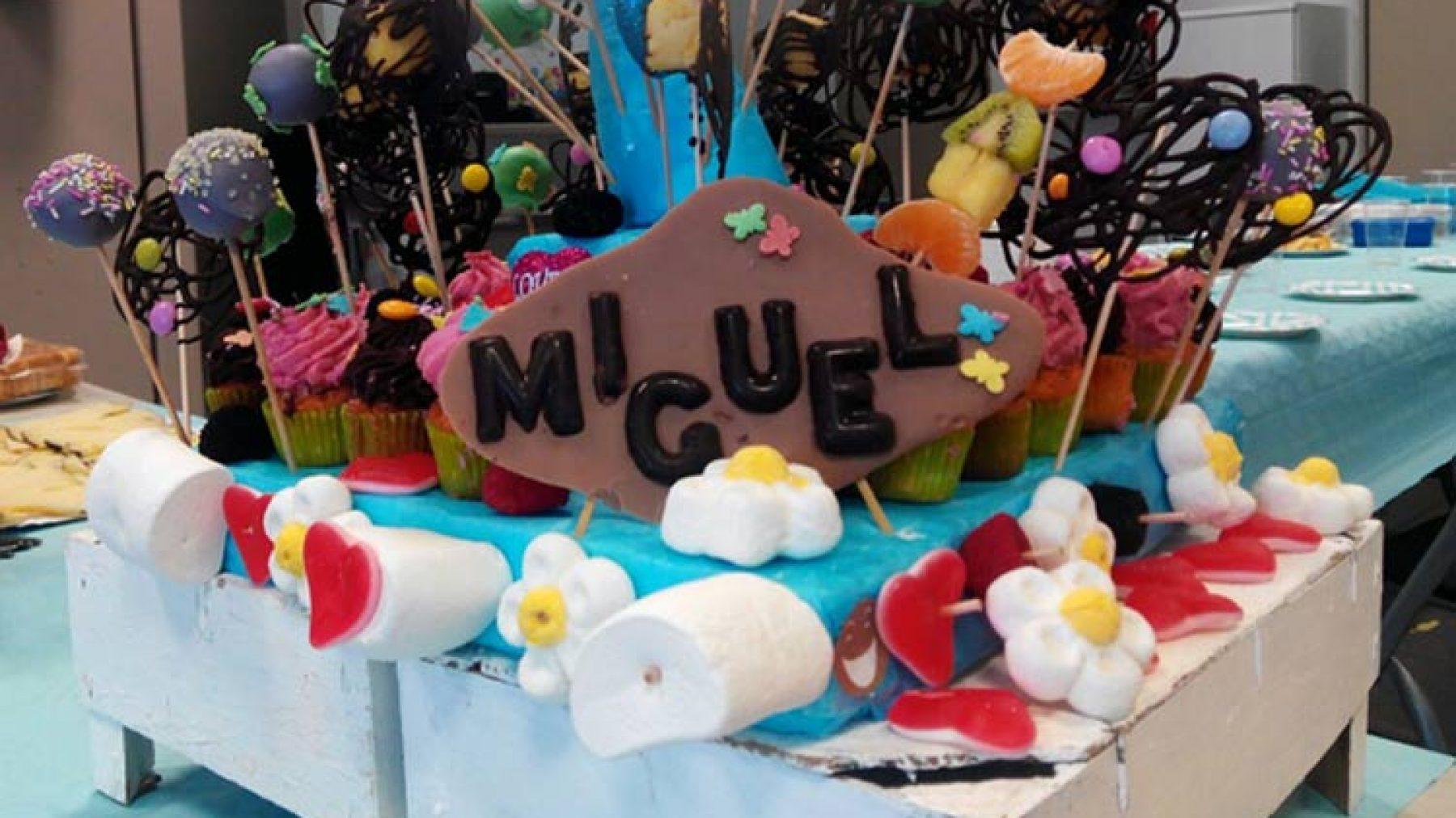 Pastel de cumpleaños de Miguel